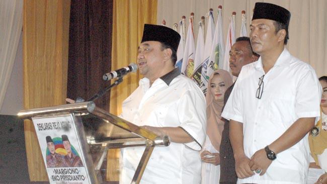 Ribuan Relawan Margiono Hadiri Deklarasi Rejoagung, Show of Force 25 Tim Pemenangan