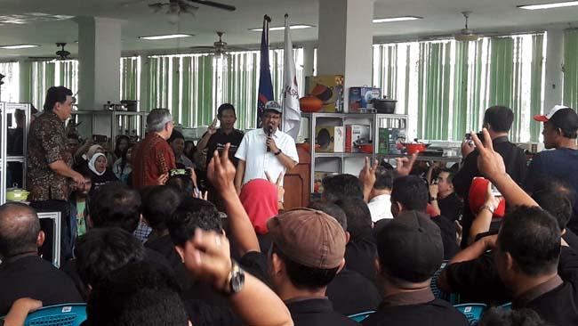 Puluhan Ribu Buruh dan Direksi Maspion Dukung Gus Ipul