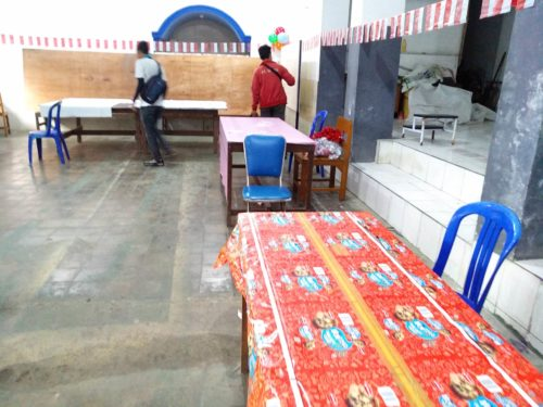 Persiapan TPS 17 Kelurahan Sukoharjo. (rhd)