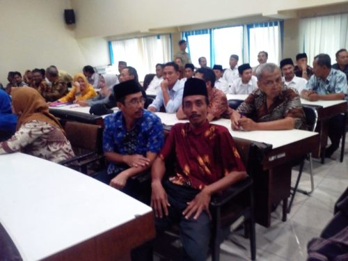Acara seleksi tambahan Bacalon Kades di ruang pertemuan BKD Pemkab Malang. (H Mansyur Usman/Memontum.Com)