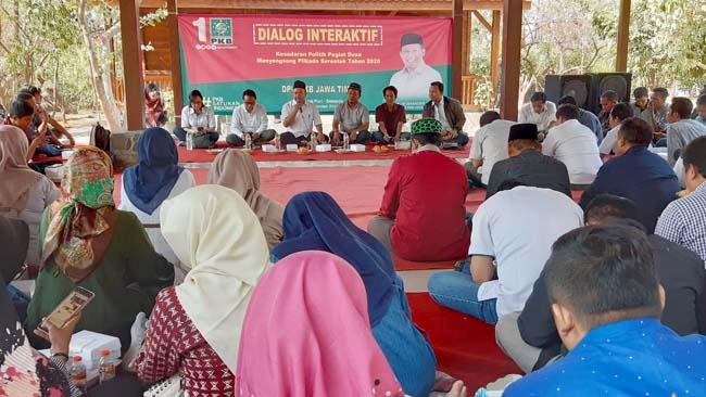 DIALOG INTERAKTIF - Menjelang Pilkada 2020, Dewan Pengurus Wilayah (DPW) PKB Jatim menggelar diskusi dan dialog interaktif dengan perwakilan RT/RW dan pegiat desa se Sidoarjo di Tanjung Puri, Rabu (25/9/2019)